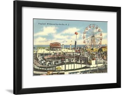 Playland, Wildwood-by-the-Sea, New Jersey--Framed Art Print