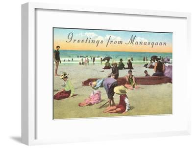 Greetings from Manasquan, New Jersey--Framed Art Print