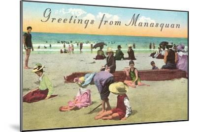 Greetings from Manasquan, New Jersey--Mounted Art Print