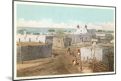 Isleta Pueblo, New Mexico--Mounted Art Print