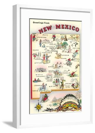Greetings from New Mexico--Framed Art Print