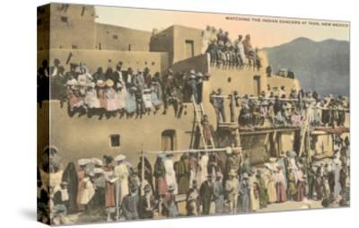 Taos Pueblo Indian Dances, New Mexico--Stretched Canvas Print