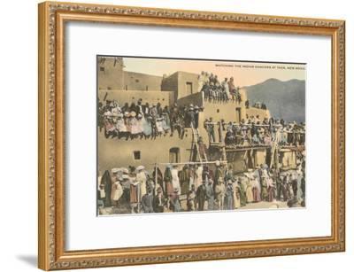 Taos Pueblo Indian Dances, New Mexico--Framed Art Print