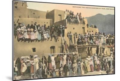 Taos Pueblo Indian Dances, New Mexico--Mounted Art Print