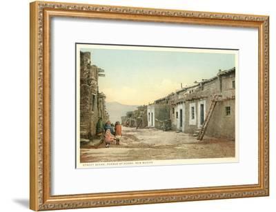 Acoma Pueblo Scene, New Mexico--Framed Art Print