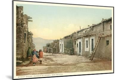 Acoma Pueblo Scene, New Mexico--Mounted Art Print