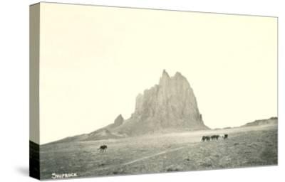 Shiprock Geological Formation, New Mexico--Stretched Canvas Print