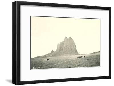Shiprock Geological Formation, New Mexico--Framed Art Print