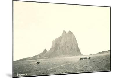 Shiprock Geological Formation, New Mexico--Mounted Art Print