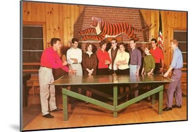 Ping-Pong Tournament, Retro--Mounted Art Print