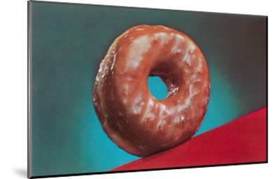 Glazed Donut, Retro--Mounted Art Print