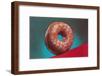 Glazed Donut, Retro--Framed Art Print