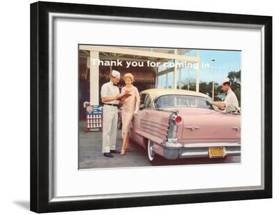 Old Time Service Station--Framed Art Print