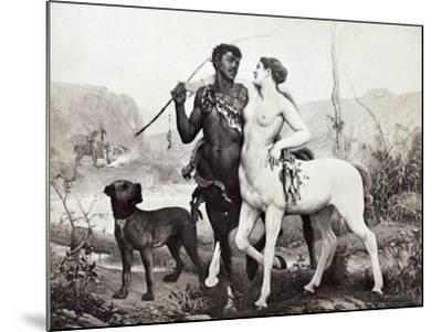 Schutzenberger: Centaurs-Louis Frederic Schutzenberger-Mounted Giclee Print