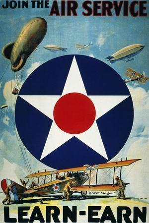 World War I: Air Service.--Stretched Canvas Print