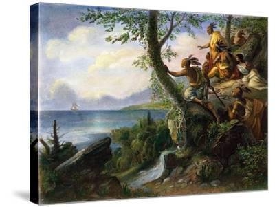 Hudson: New York, 1609--Stretched Canvas Print