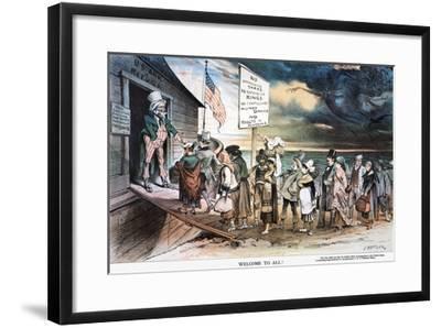 Pro-Immigration Cartoon-Joseph Keppler-Framed Giclee Print