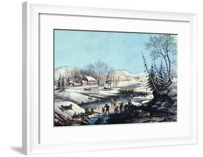 Winter Scene: Morning 1854-Currier & Ives-Framed Giclee Print