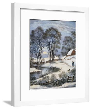 Currier & Ives: Winter Moonlight-Currier & Ives-Framed Giclee Print