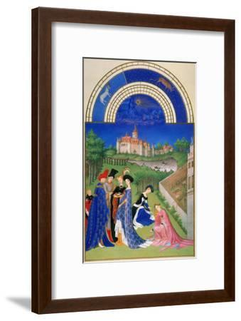 Tres Riches Heures: April--Framed Giclee Print