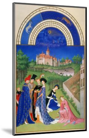 Tres Riches Heures: April--Mounted Giclee Print