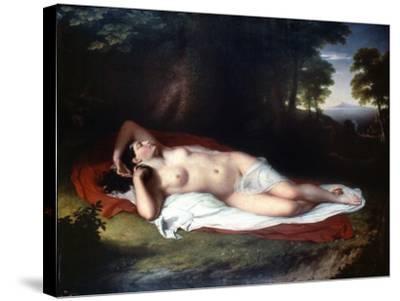 Vanderlyn: Ariadne Asleep-John Vanderlyn-Stretched Canvas Print