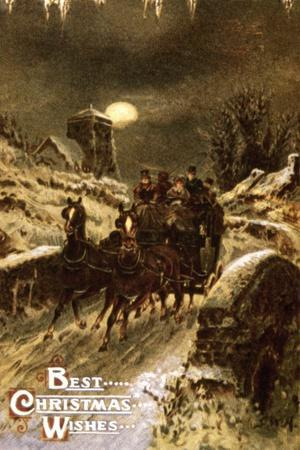 American Christmas Card--Stretched Canvas Print