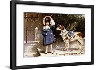 American Christmas Card--Framed Giclee Print