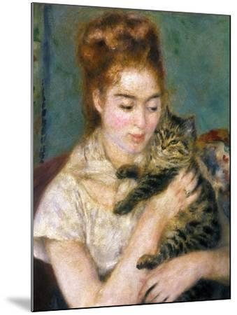Renoir: Woman With A Cat-Pierre-Auguste Renoir-Mounted Giclee Print