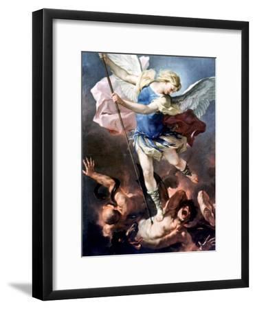 The Archangel Michael-Luca Giordano-Framed Giclee Print