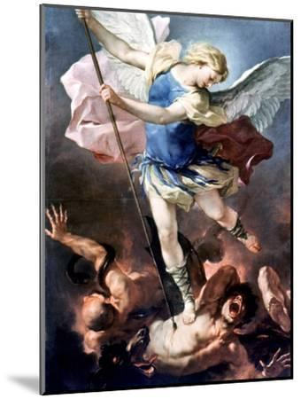The Archangel Michael-Luca Giordano-Mounted Giclee Print