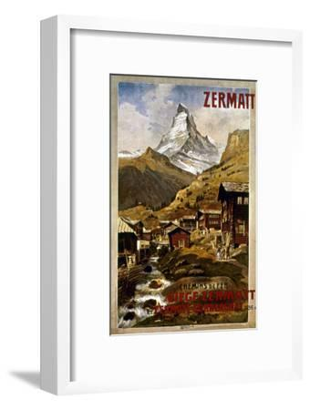 Swiss Travel Poster, 1898--Framed Giclee Print