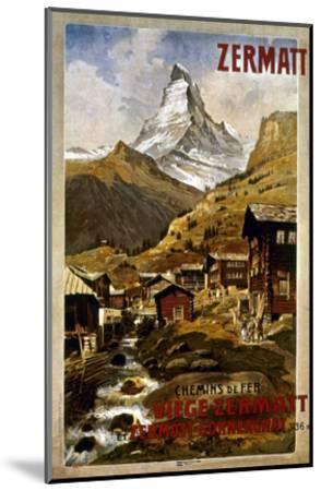 Swiss Travel Poster, 1898--Mounted Giclee Print