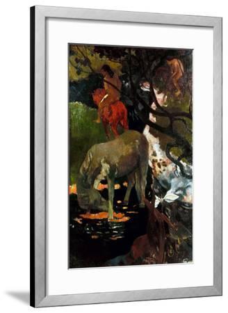 Gauguin: White Horse, 1898-Paul Gauguin-Framed Giclee Print