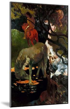 Gauguin: White Horse, 1898-Paul Gauguin-Mounted Giclee Print