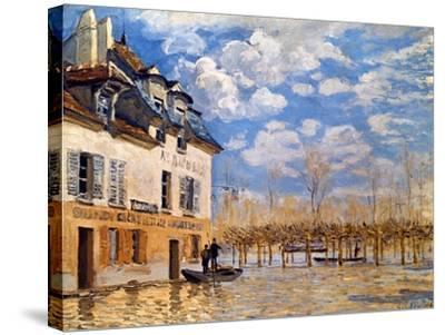 Sisley: Flood, 1876-Alfred Sisley-Stretched Canvas Print