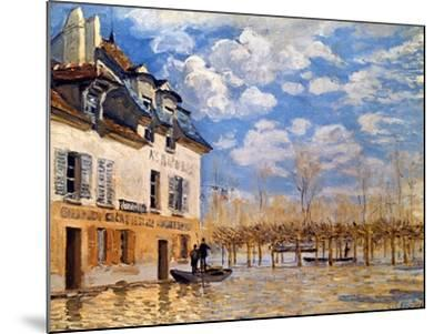 Sisley: Flood, 1876-Alfred Sisley-Mounted Giclee Print