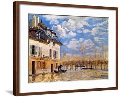 Sisley: Flood, 1876-Alfred Sisley-Framed Giclee Print