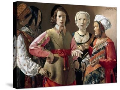La Tour: Fortune Teller-Georges de La Tour-Stretched Canvas Print