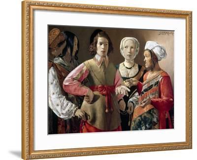 La Tour: Fortune Teller-Georges de La Tour-Framed Giclee Print