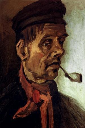 Van Gogh: Peasant, 1884-Vincent van Gogh-Stretched Canvas Print