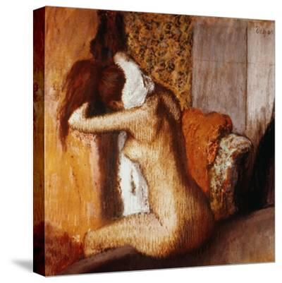 Degas: After The Bath-Edgar Degas-Stretched Canvas Print