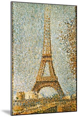 Seurat: Eiffel Tower, 1889-Georges Seurat-Mounted Giclee Print