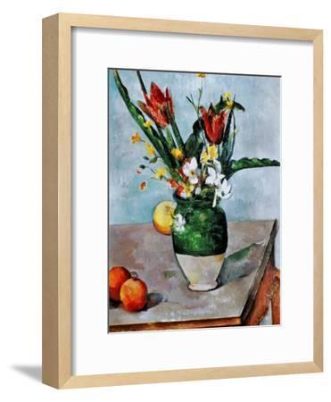 The Vase of Tulips, c. 1890-Paul C?zanne-Framed Giclee Print