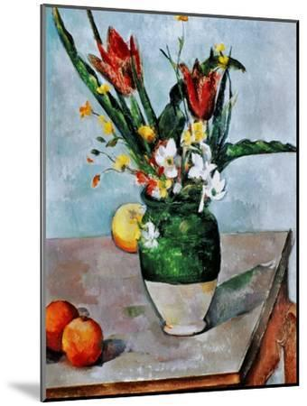 The Vase of Tulips, c. 1890-Paul C?zanne-Mounted Giclee Print