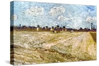 Van Gogh: Fields, 1888-Vincent van Gogh-Stretched Canvas Print