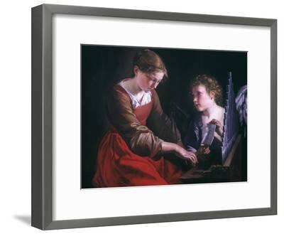St. Cecilia And An Angel-Orazio Gentileschi-Framed Giclee Print