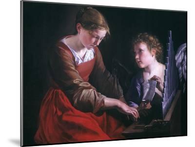 St. Cecilia And An Angel-Orazio Gentileschi-Mounted Giclee Print