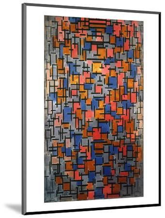 Mondrian: Composition-Piet Mondrian-Mounted Giclee Print