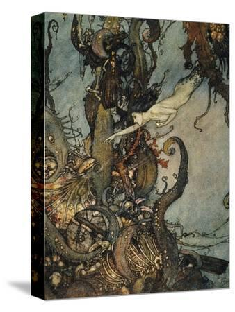Andersen: Little Mermaid-Edmund Dulac-Stretched Canvas Print
